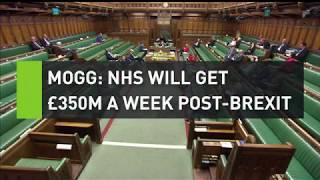 Mogg stands by claim NHS will get £350m after Brexit