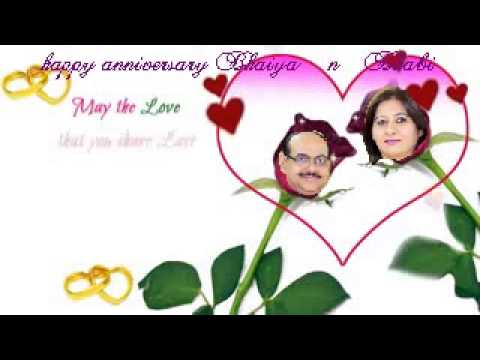 Wedding Anniversary Video With Your Name Picture Song Message