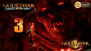 God of War Ghost of Sparta HD PS3 Walkthrough Parte 3 Español Gameplay El Titan Thera 1080p