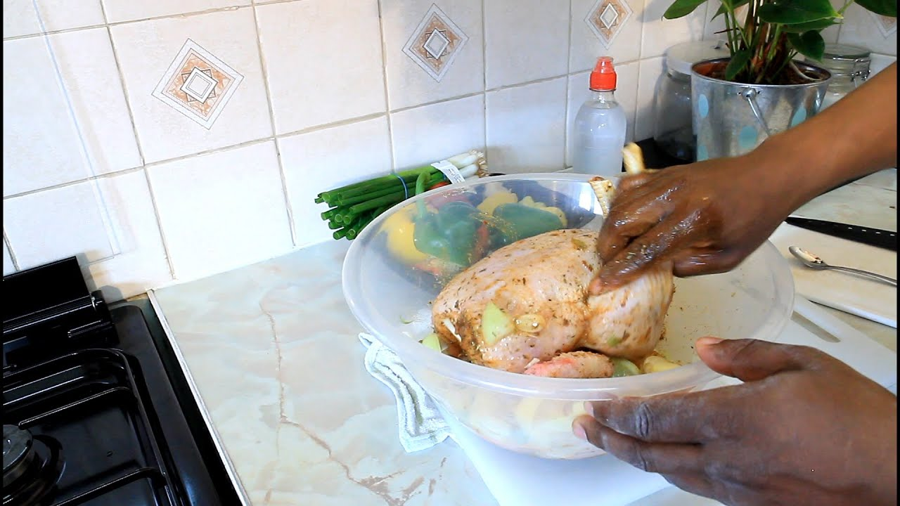 How to properly marinate a chicken for frying in the oven And pork
