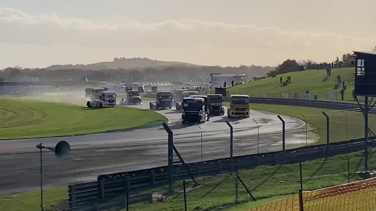 Thruxton Truck Racing Crash