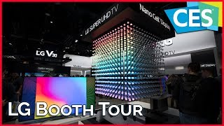 LG Booth Tour at CES 2018 - New TVs, LG CLOi, Nano Cell Display, and ThinQ AI
