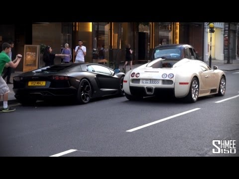 One-77 Q, Veyron SS, 2 more Veyrons, 2 Flaming Aventadors... Summer in London