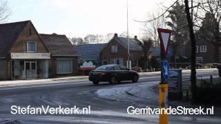 Diverse ongevallen en bijna-ongevallen door gladheid Industrieweg-Stationsweg Wezep
