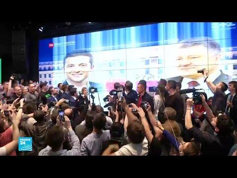 فوز ساحق للممثل زيلينسكي في الانتخابات الرئاسية في اوكرانيا  - نشر قبل 2 ساعة