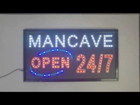 Man Cave Led Sign : Personalized bar sign wedding