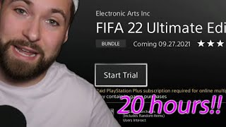 HOW TO GET 20 HOЏRS OF EA ACCESS ON FIFA 22!
