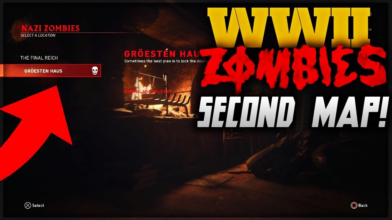 how to get the second ww2 zombies map groesten haus survival map