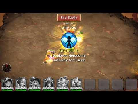 Castle Clash-boss 5 Split Strategy