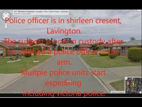 NSW Police Radio Recording, Armed Robbery, Police Pursuit & Officer Gets Stabbed