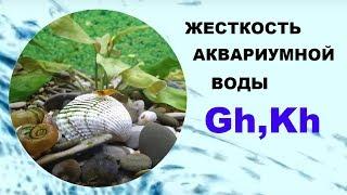 Жесткость аквариумной воды GH, KH. Качество жесткой воды. Как понизить и повысить жесткость.