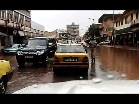 La ville de Bangui après une pluie.