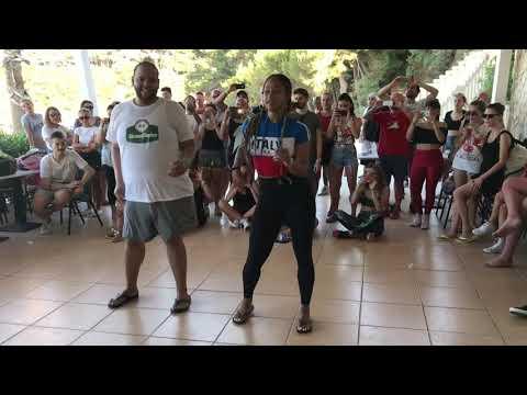 Alex AnD Desiree Bachata Footwork [Que Viva La Salsa Festival]