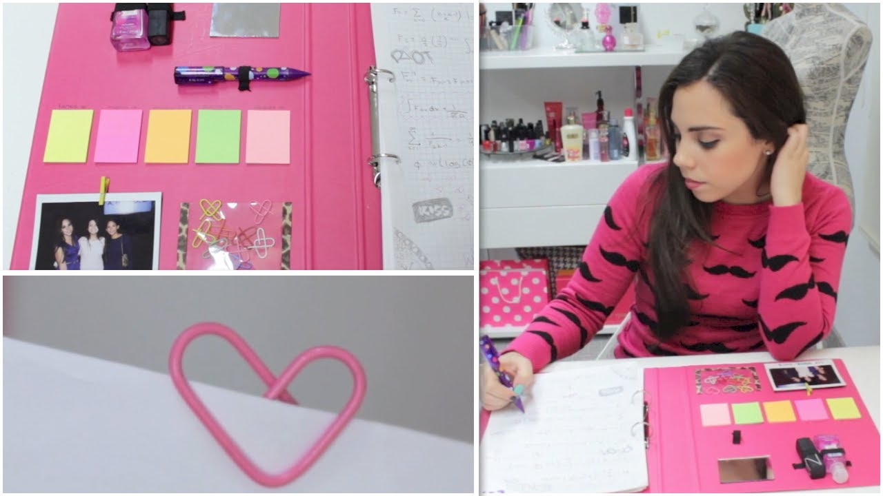 Organiza y decora tu carpeta diy youtube for Como se decora una habitacion