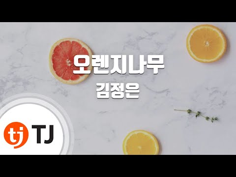 [TJ노래방] 오렌지나무 - 김정은 (Orange tree - Gim Jung Eun) / TJ Karaoke