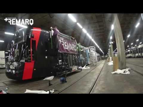 Tramway Geneve - pelliculage Facchinetti Automobile
