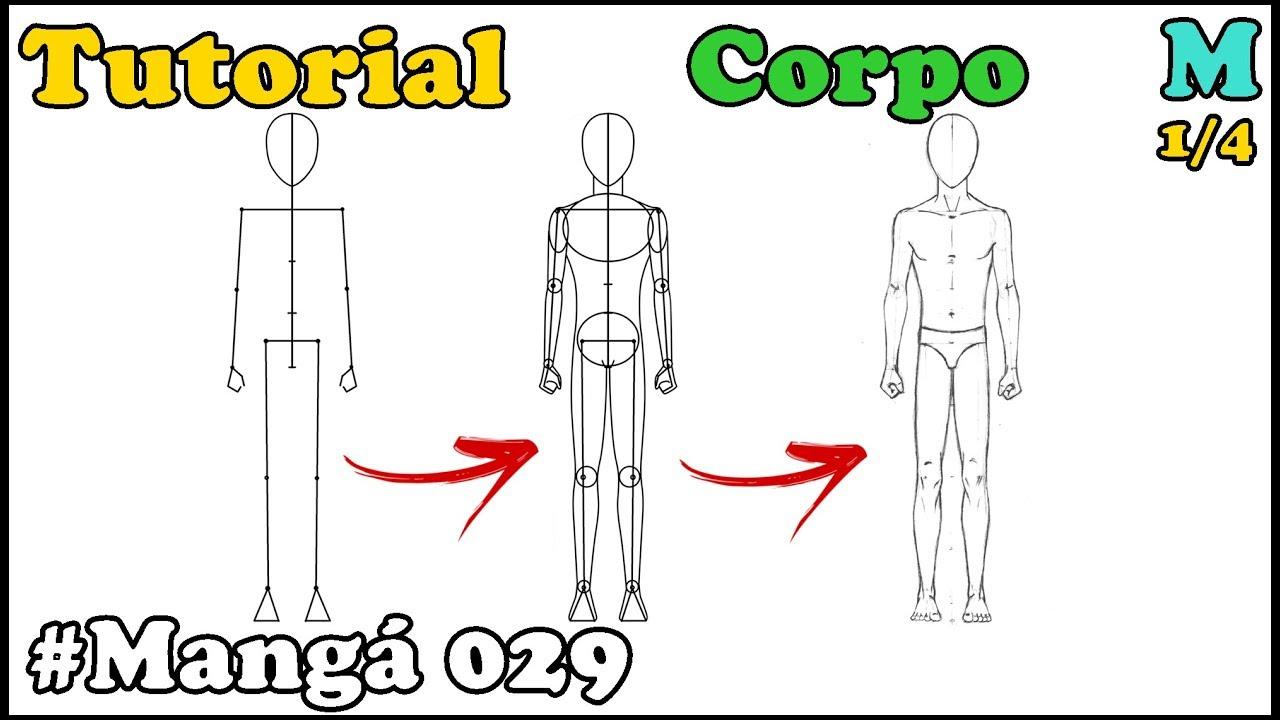 Como Desenhar Corpo Masculino De Frente Manga 029 How To Draw