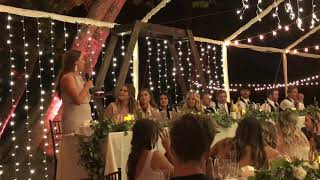 Gianna's beautiful speech at Alexa & Nick wedding