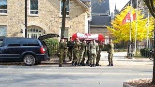 "Sad ""Practice"" Funeral for Slain Corporal Nathan Cirillo"