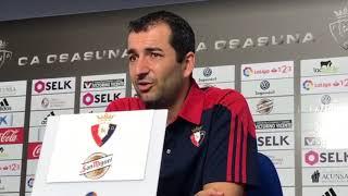 Diego Martínez. Previa Rayo Vallecano-Osasuna