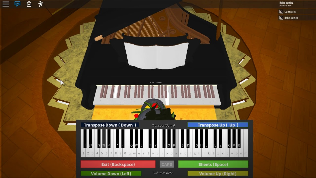 Roblox Piano Alan Walker Sabrina Carpenter Farruko On My