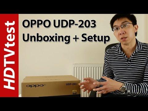 OPPO 203 4K Blu-ray Player Unboxing & Setup Menu Settings