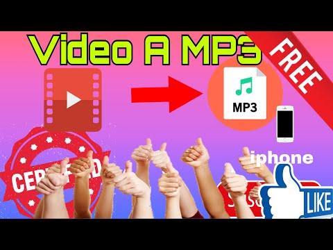 CONVERTIR VIDEOS A MP3 EN IPHONE 2020