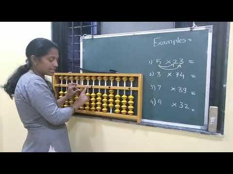 Simple Multiplication On Abacus