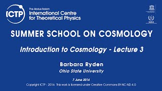 Barbara Ryden: Introduction to Cosmology - Lecture 3