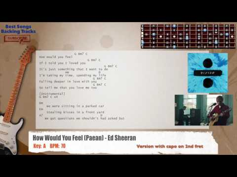 How Would You Feel (Paean) - Ed Sheeran Guitar Backing Track with chords and lyrics