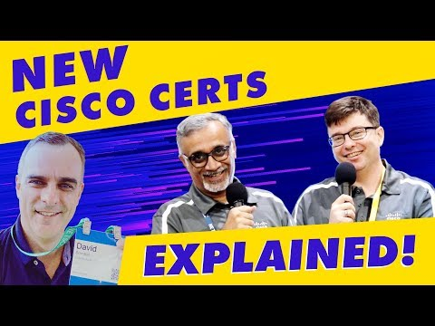 The New CCNA CCNP CCIE certifications explained - BIGGEST Cisco Certification updates EVER