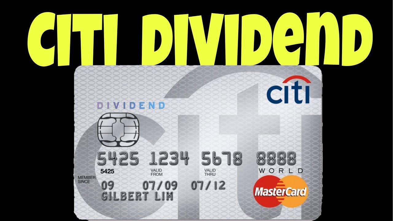 Citi Dividend Card