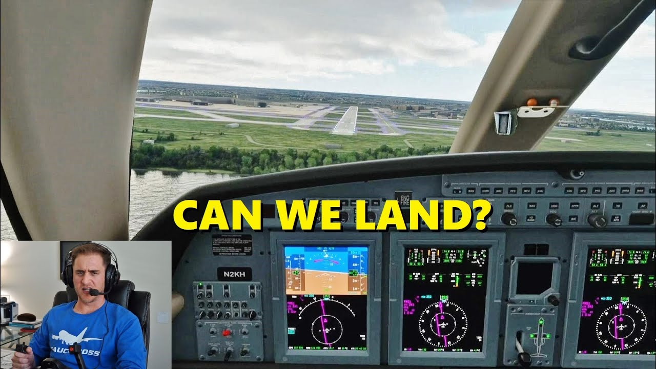 ATC LEAVES During Landing! Citation CJ4 in Microsoft Flight Simulator (VATSIM)