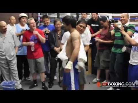 Road to Mosley- Manny Pacquiao's Final Workout and B.J. Penn.flv