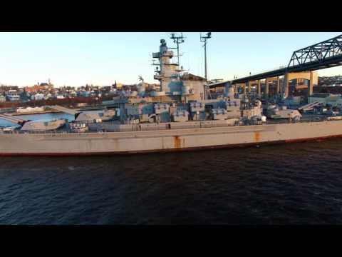 Battleship Cove 4k drone video