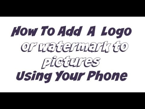 How To Add Logo Watermark To Pictures Using Phone - Picsart Tutorial