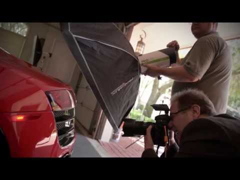 Behind the Scenes: Audi R8 Photo Shoot with the Priolite MBX500
