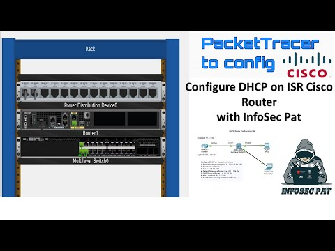 How To Configure DHCP On A Cisco ISR Router In Cisco Packet Tracer - 2019 CCNA Lets Lab It Up.