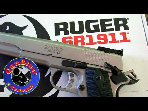 Shooting Ruger's NEW SR1911 Semi-Auto 10mm Pistol - Gunblast.com