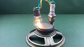 New electric free energy device using speaker magnet generator at home