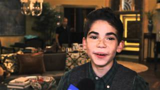 Cameron Boyce On Set
