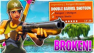 NEW DOUBLE BARREL SHOTGUN IS BROKEN!! FORTNITE BATTLE ROYALE