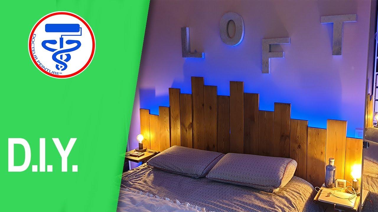 Idée de déco d'une chambre parentale   Tête de lit originale