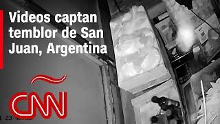 Mira los videos del temblor en San Juan, Argentina, que se sintió también en Chile