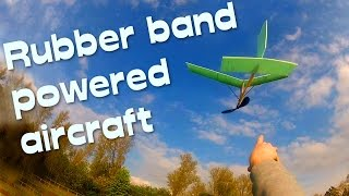 Rubber Band Powered Plane Model - Diy