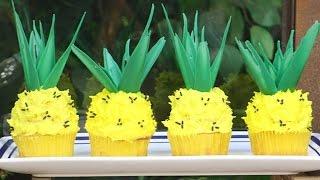 Pineapple Cupcakes! Summer Fun Cupcakes With  My Cupcake Addiction