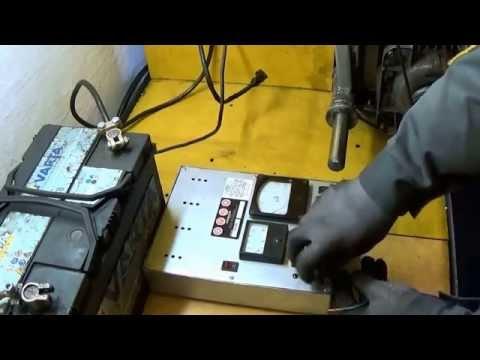 Смотреть онлайн Проверка генератора на стенде