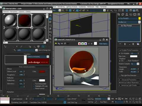 3DS Max Texturing with Arch Design Mental Ray Materials