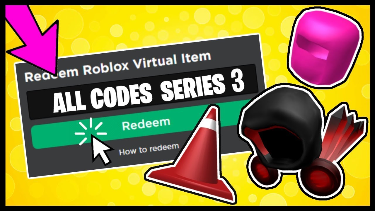 All Roblox Toy Code Items Series 3 Showcase Youtube