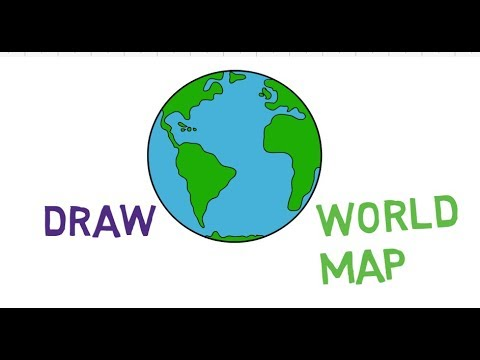 How To Draw World Map Step By Step Easy Way Tutorial Jtv